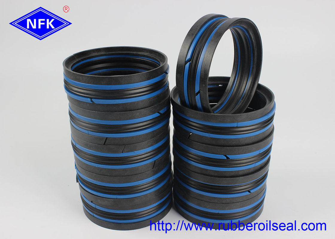 Black Blue Hydraulic Piston Seals , Double Acting Piston Seal 80*60*35.1mm Size